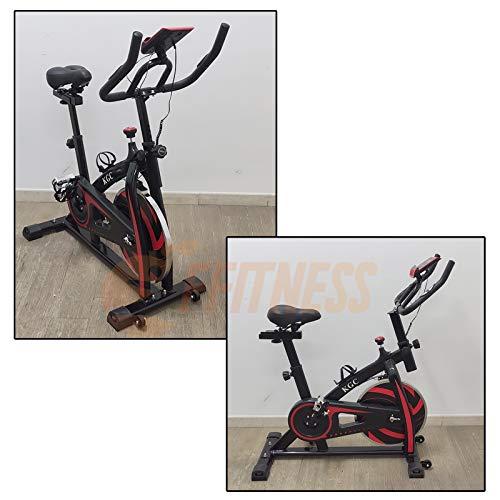 Fusaro Moto Spinning Bike con volano da 6 kg | Bicicletta per Allenamento a casa Dimagrante, Forza, Resistenza | Spinbike con Cardio, Cyclette per l'home Fitness