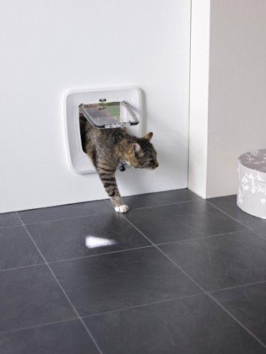 Savic Access - Aleta magnética para Gatos, 4 vías, Color marrón
