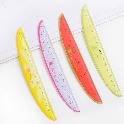ZNXXJBCZ Merk 15 cm Creatieve Fruit Kunststof Liniaal Leuke Watermeloen Sjabloon Schaal Voor Kinderen Kantoorbenodigdheden
