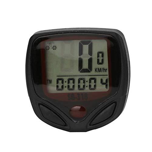 STYHOMSUN Cronómetro con cable para bicicleta, velocímetro, cuentakilómetros, ciclismo, ordenador, bicicleta, temperatura...