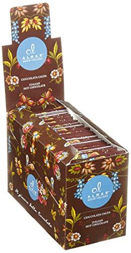 Almar italienische heiße Schokolade Cortina ZARTBITTER-SCHOKOLADE - (25x30 g) Einzeln Portionsbeutel, 750 g
