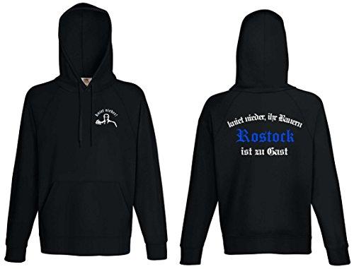 world-of-shirt Herren Kapuzensweat Rostock Ultras kniet nieder