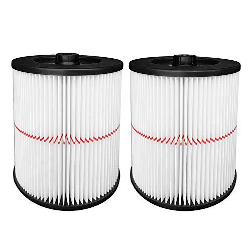 Reinlichkeit 2 Pack Cartridge Filter for Shop Vac Craftsman 17816 9-17816 Wet/Dry Air Filter Replacement Part