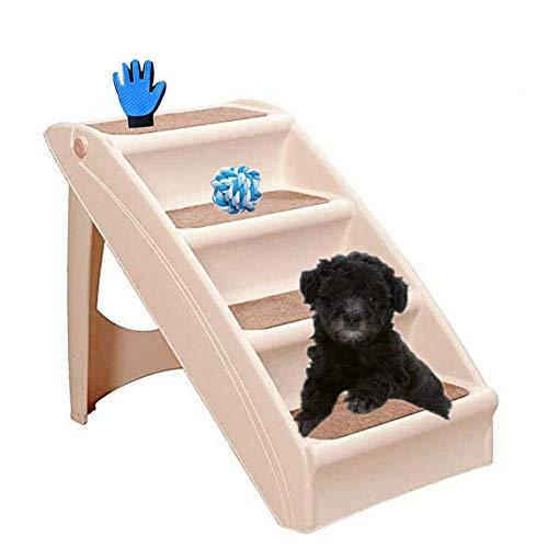 ZYQ Escalones Plegables para Mascotas, Escalera de plástico Ligero Antideslizante de 4 escalones, escalones de Uso General para Viajes domésticos de Mascotas
