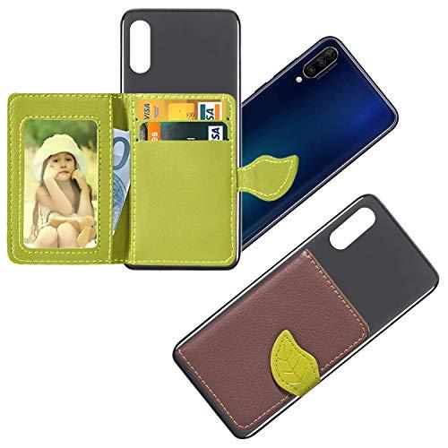 vingarshern HandyHülle für DOOGEE Mix 2 Schutzhülle Mit Haftendes Mini Geldbörse,Kartenhülle Aufklebbare Bumper Etui Doogee Mix 2 Hülle Silikon Hülle+Leder Brieftasche,Braun