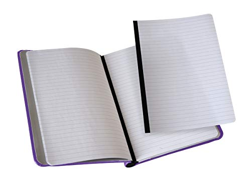 """Rekonect Magnetic Notebook Purple (lined, 5 1/2"""" x 8"""", with pocket)"""