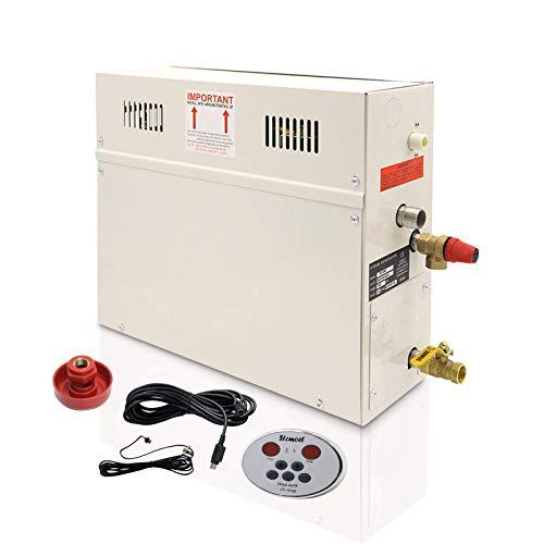 YJINGRUI 7KW generatore di vapore sauna vapore casa doccia a vapore sauna generatore di vapore per doccia sauna bagno casa SPA 7m3 con conservazione del calore auto-drenante 220V (ST-135AD)