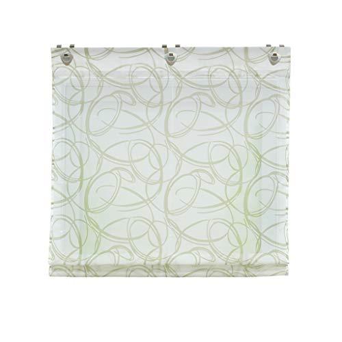 Joyswahl Voile ösenrollo halptransparenter Raffrollo mit Fensterhaken Design mit Blumen Muster »Elise« Schals Fenster Rollos BxH 80x140cm 1er Pack