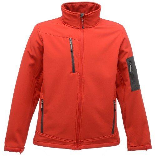 Regatta Professional Arcola Wind Resistant 3-Layer Waterproof Membrame Softshell Jacket Homme, Rouge Classique/Gris Phoque, L