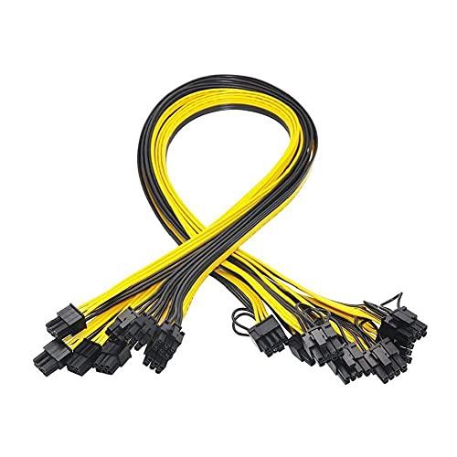 diseño de GPU Cable de alimentación de 6 Pines PCIe para 8Pin 6 + 2 Pines PCIe Macho a Macho Conectores de Cable Divisor 10PCS humanizado