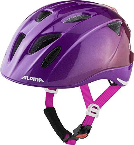 ALPINA Unisex - Kinder, XIMO FLASH Fahrradhelm, berry gloss, 47-51 cm