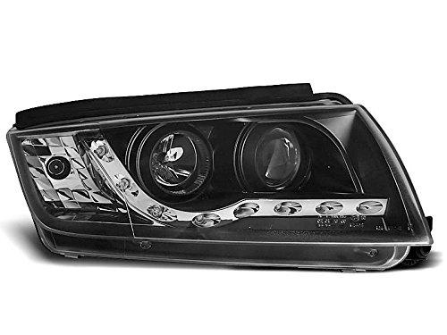 1 paar koplampen Fabia 99-08 Daylight LED zwart (K06)