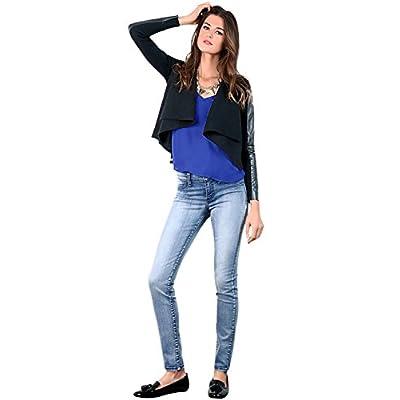Women's Stretch Denim Light Blue Wash Skinny Premium Jeans