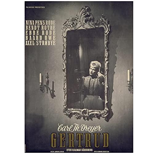 Jhmjqx Póster decorativo de la colección Vampire de Carl Theodor Dreyer Francia, película francesa, 1 marco de 50 x 70 cm
