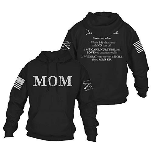 Grunt Style Mom Defined Hoodie (Black, X-Large)