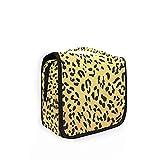 Bolsa de aseo de viaje colgante moda leopardo patrón Cougar animal Print Kit maquillaje caso 11 cosméticos organizador para hombres mujeres 3