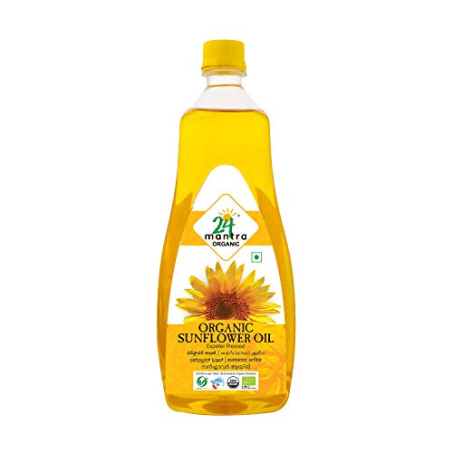24 Mantra Organic Cold / Expeller Pressed Sunflower Oil 1Litre
