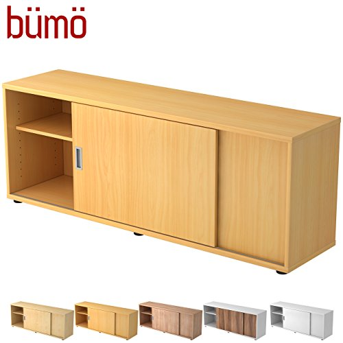Hamerbacher Sideboard met schuifdeur | Office schuifdeurkast | voor ordner & opbergruimte voor materiaal kantoormeubilair | in 12 kleuren beuken