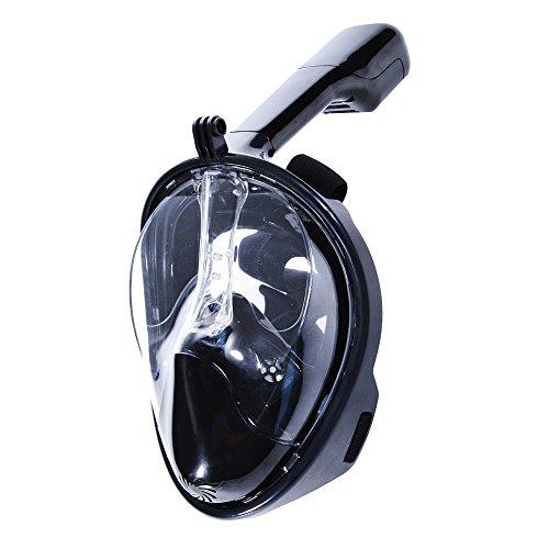 Sxgyubt Masker Seaview 180° Panoramische Snorkel Masker-Volledig Gezicht Design.Blue S/M Rol Spelen Plezier Halloween Party Decoratie Zwart