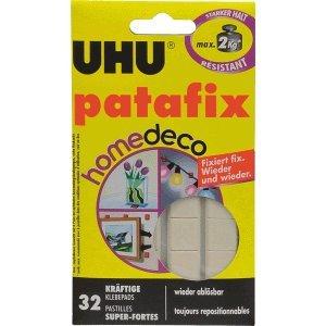 UHU - Cuscinetti adesivi patafix homedeco, 32 pezzi