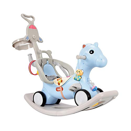 NXYJD Children Rocking Horse Trojan Horse 1-6 Years Old Baby Toy Birthday Gift Rocking Horse 5 Trolley Scooter