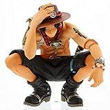 Yangzou Nuevo 12Cm One Piece Ace Squatting Figura De Acción Juguetes Muñeca De Navidad Juguete Decoración Familiar Adornos para Automóviles Coleccionables Juguetes para Niños