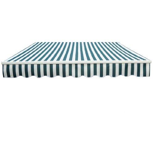 HOMCOM Auvent Manuel de Jardin terrasse Store Aluminium Retractable 4L x 3l m Vert et Blanc