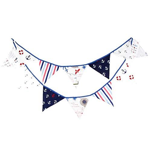 Cotton Pirate Banner Flaggen-Fahnen-String-Wimpel-Partei-Dekoration Geburtstag Hanging Banner Party Supplies