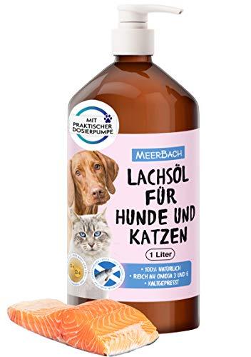 1 Liter Lachsöl für Tiere, Lachsöl für Hunde, Katzen und Pferde, Nahrungsergänzungsmittel zum Barfen für Hunde, Naturprodukt