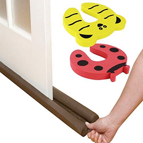 Valgens Door Draft Stopper,Finger Pinch Guard,WindProofing Doors Made Easy with Soft Yet Durable Foam Door Stopper.