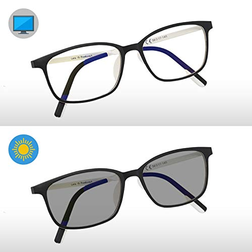 kimorn Fotocromatiche Occhiali Per Blocco Luce Blu Cornice Quadrata Anti Blue Ray Gioco Per Computer KS105