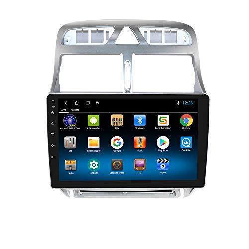 9 Zoll Android 10 Quad Core Autoradio-GPS-Navigator Kompatibel mit Peugeot 307 307CC 307SW 2002-2013 Unterstützt Bluetooth 4.0 Radio WiFi 4G USB-Mikrofon CANBUS ISO-Kabel
