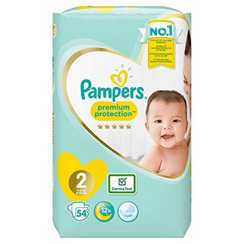 Pampers Premium Protection New Baby Windeln Gr. 2 (4-8 kg), 1er Pack (1 x 54 Stück)