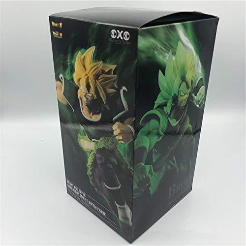 Yvonnezhang Neuer Dragon Ball Z Film Super Broli Gold Super Saiyajin VS Goku Broly Ver. PVC Actionfigur DBZ Vegeta Fighting Modell 24cm, eine echte Box