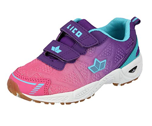 Lico Damen Flori V Multisport Indoor Schuhe, Pink/Lila/Türkis, 41 EU thumbnail
