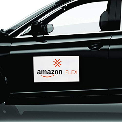 1 Pair New Car Sign, Amazon Flex Car Magnetic Window Sign, 6' x 12' Perfect Magnet for Car to Advertise Business, Great for Commercial or Marketing Vehicles