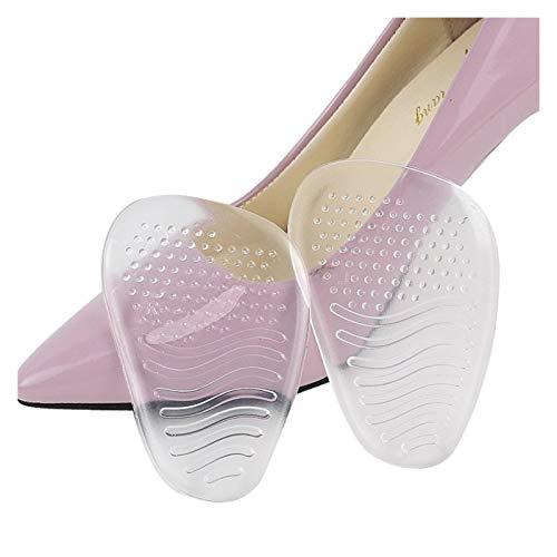 Komfortabel 1Pair High Heels Vordere Vorderfuß Pads 3D Kieselgel Puffer Einlegesohlen Halbcode Massage Dämpfung Einsätze Stoßdämpfer Fersenkissen zum Laufen, Training ( Color : Transparent )