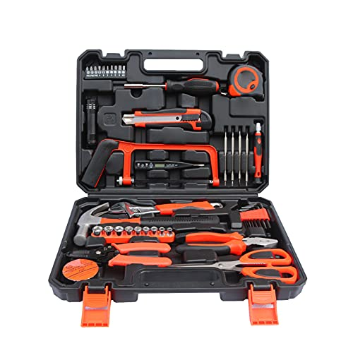 Explopur 45 pièces Ensemble d'outils de matériel boîte à Outils pour la Maison Outils de réparation ménagère Ensemble d'outils d'entretien général pour la Maison Appartement Garage dortoir Bureau