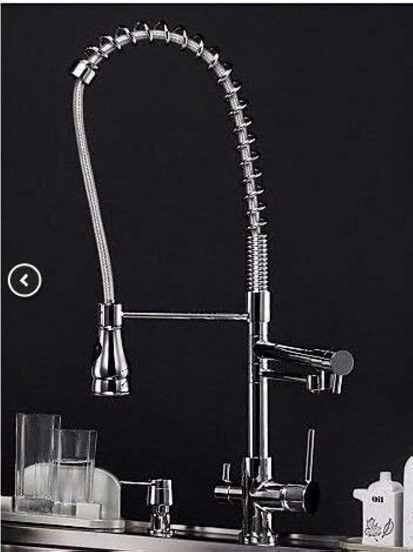Oudan Alle Kupfer-Küchenarmatur heies und kaltes Wasser Küchenarmatur sinken voll Kupfer Waschbecken Wasserhahn