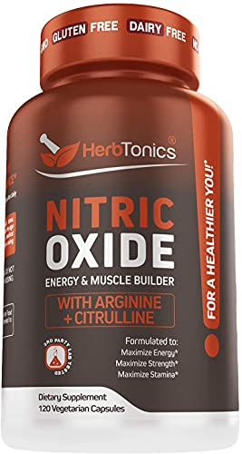 High Strength Nitric Oxide Booster Supplement with L Arginine...