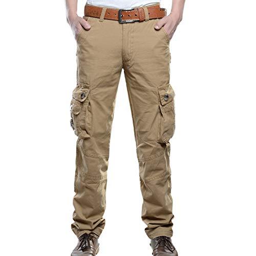 GITVIENAR Pantalon de randonnée pour Homme - Pantalon de randonnée d'été avec Ceinture - Léger à séchage Rapide et Respirant, Homme, Kaki, EU 38(Taille: 99CM)