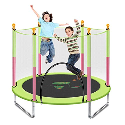 LuoMei Fitness Trampoline Household Gym with Safety Enclosure Outdoor and Indoor Trampoline for Kids