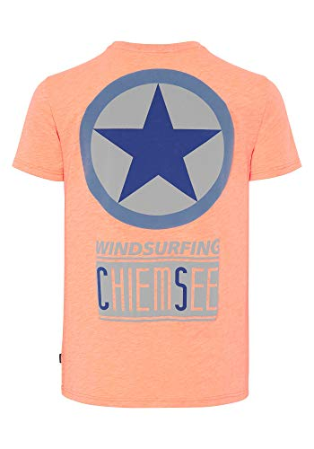 Chiemsee T-Shirt Men, Arancione Fluo, M Uomo