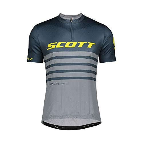 Scott RC Team 20 Fahrrad Trikot kurz blau/grau 2020: Größe: XL (52/54)