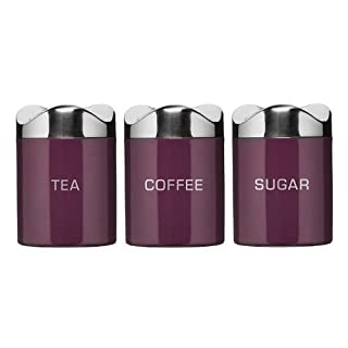 Set of 3 Houston Purple Enamel Tea Coffee Sugar Jars Canister (B0050JLXK2) | Amazon price tracker / tracking, Amazon price history charts, Amazon price watches, Amazon price drop alerts