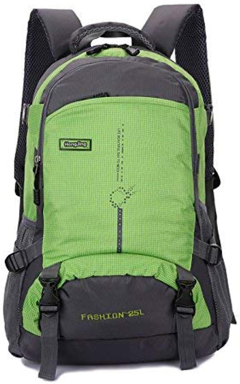 Lounayy Outdoor Bergsteigen Tasche Stylisch Wasserdichter Mode Wandern Wandern Wandern Rucksack Aus Nylon (Farbe   Grün, Größe   One Größe) B07MD17WH6  Im Freien 5eeb9e