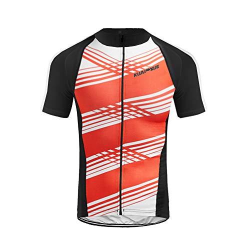 Uglyfrog Herren Kurzarm Radtrikot Fahrradtrikot Fahrradbekleidung für Männer mit Elastische Atmungsaktive Schnell Trocknen Stoff 3 Packung