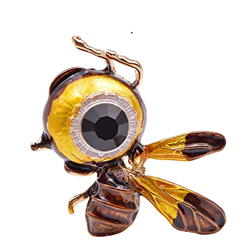 XXCHUIJU Lindo Little Bee Broche Carton Insect Insecto Broches para Mujeres Grandes Ojos Honeybee Pin Fashion Jewelry