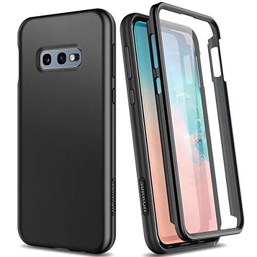 SURITCH Kompatibel mit Samsung Galaxy S10e Hülle 360 Grad Hüllen mit Integriertem Bildschirmschutz Silikon Komplettschutz Handyhülle Schutzhülle für Samsung Galaxy S10e Schwarz