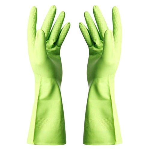 Gants Eté imperméables Gants de nettoyage vaisselles Gants -Vert
